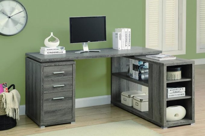 Monarch Reclaimed-Look Left/Right Facing Corner Desk