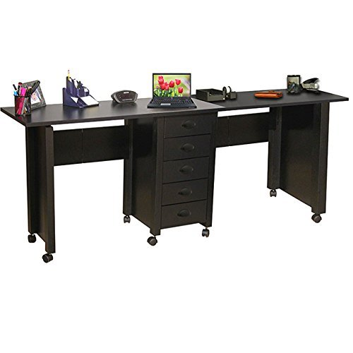 space saving collapsible two people desk computer deskz. Black Bedroom Furniture Sets. Home Design Ideas