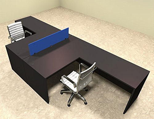 sharing a workstation with another person is not always the most comfortable situation this workstation is a t shaped desk for 2 that provides an