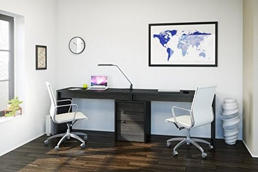 Desk for Two People  #1 Pick for Home Office: Nexera Sereni-T