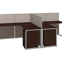 Bush Furniture Two Person L Shaped Desk. U003e