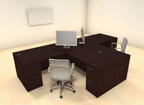 Charmant Computer Desk For 2 People U2013 Best Choice T Shaped Office Workstation